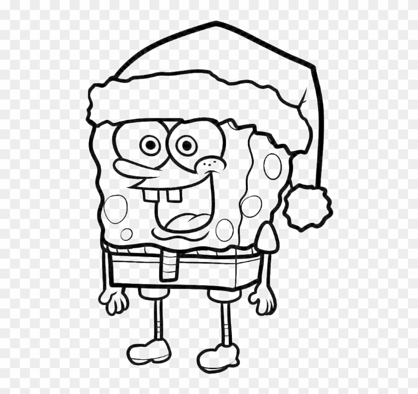 Hello Kitty Was Wearing A Costume Of Dolphins Coloring - Spongebob Christmas Coloring Pages #464642