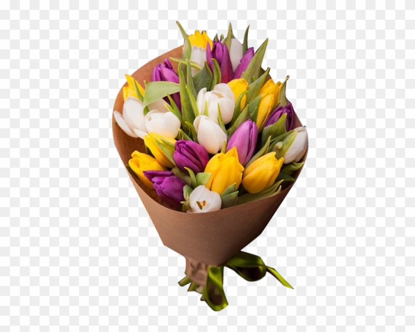 Букет Из 23 Тюльпанов - Flower Bouquet - Free Transparent PNG Clipart  Images Download