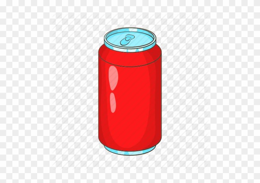Aluminum, Bank, Beverage, Cartoon, Drink, Soda Icon - Soft Drinks Png Cartoon #465232