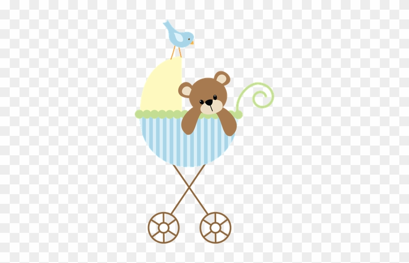 Baby Carriage Clip Art - Baby Shower Thank You Cards - Free ...