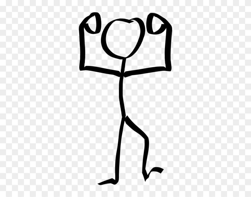 Stickyman Hands Up Png Images 312 X - Stick Figure Winner #466022