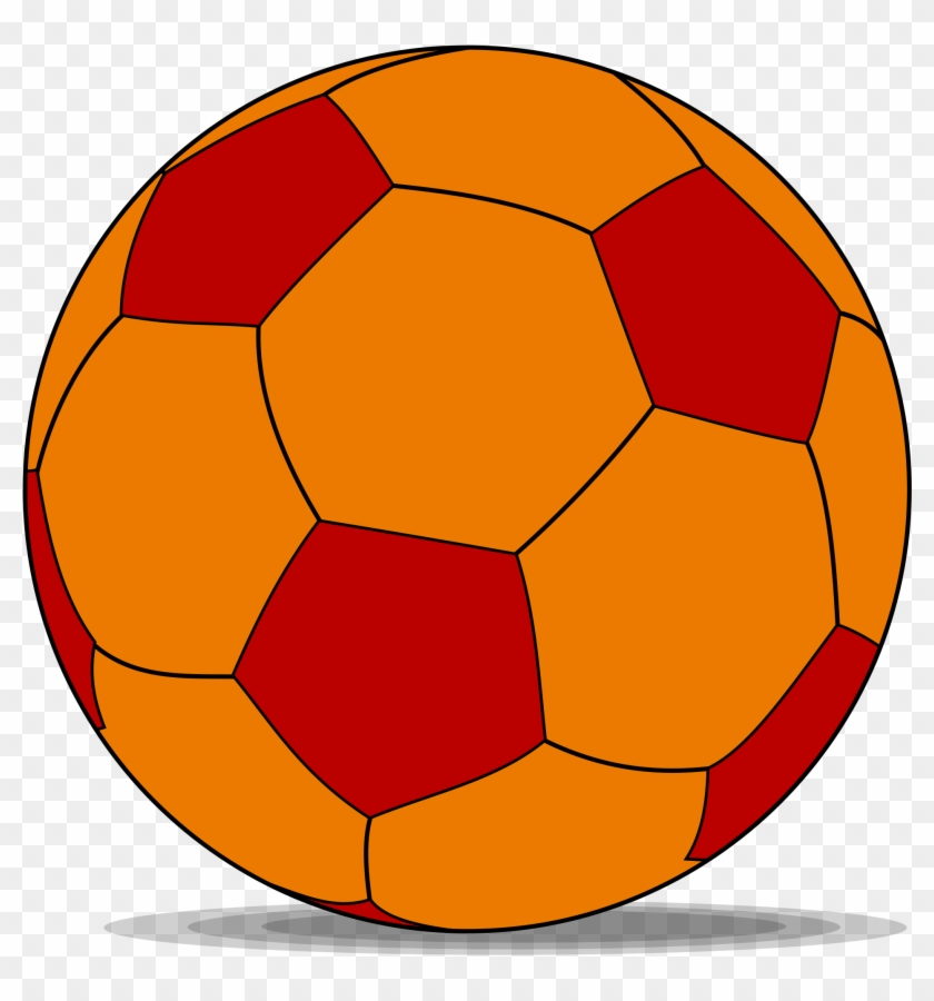Soccer Ball Cartoon 7, Buy Clip Art - Orange And Red Soccer Ball #466893