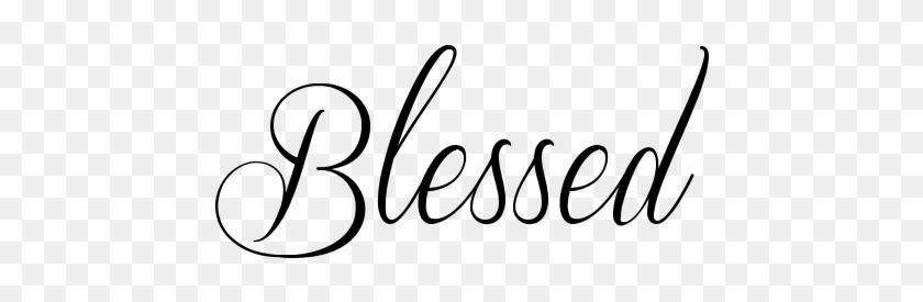 Blessed Tattoos - Pesquisa Google - Blessed In Cursive Letters #467077