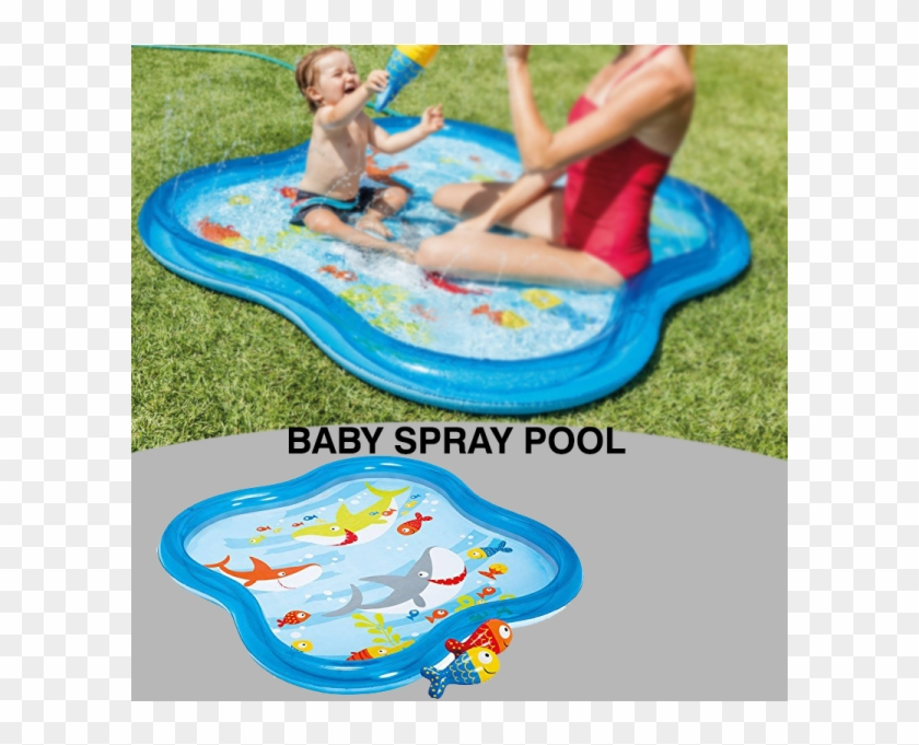 Intex Inflatable Square Baby Spray Pool, Blue #467872