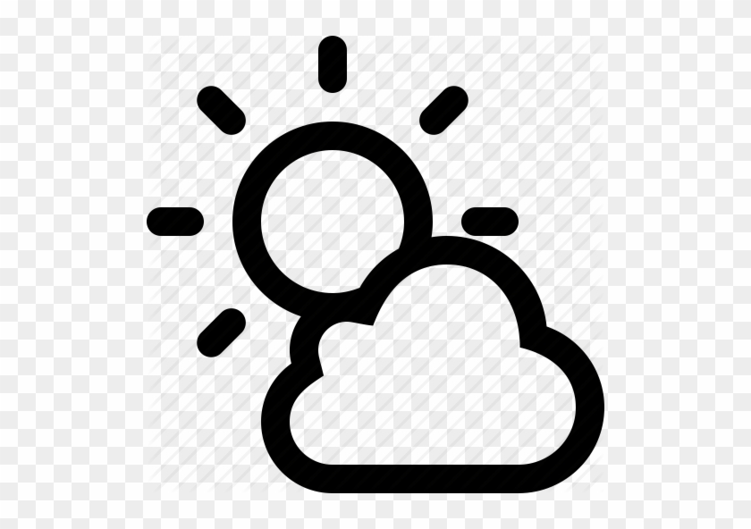Climate, Cloudy, Forecast, Partly Cloudy, Sun, Sunny, - Sunny Cloud Icon Png #468056