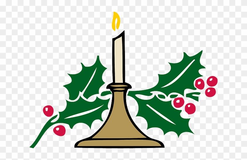 Christmas Holly Cartoon.Cartoon Black Holly Candle White Recreation Cartoon
