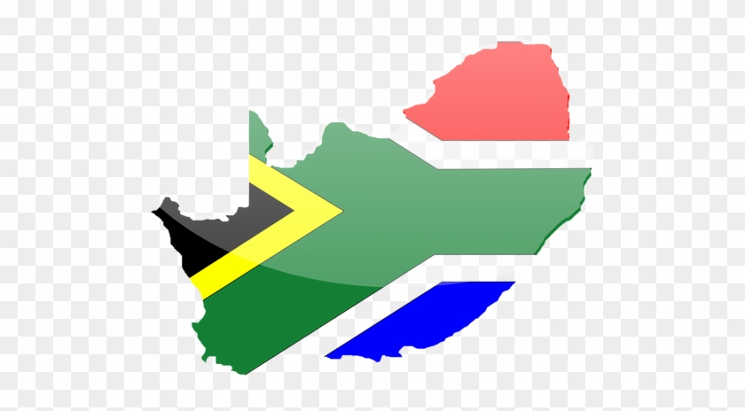 Vector Graphics Of Country Shape South Africa Flag - Poverty In South Africa #468170