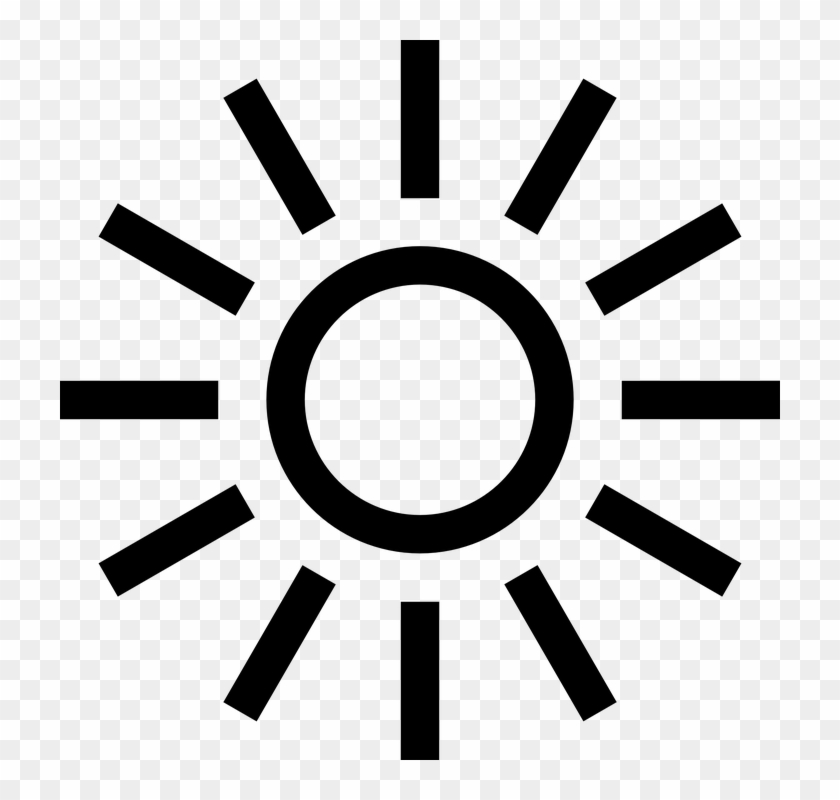 Black And White Sun Clipart 17, - Grey Light Bulb Icon #468177