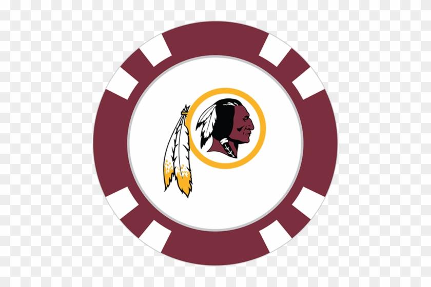 Teamgolf Poker Chip Ball Marker - Fathead Nfl Logo Wall Decal Nfl Team: Washington Redskins #468297