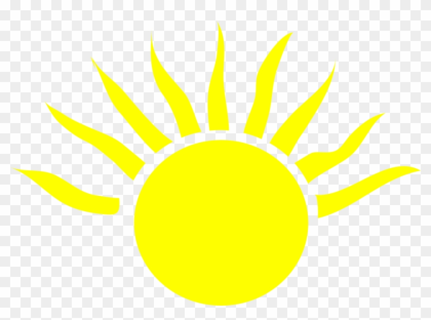 Half Sun Clipart 2, - Cartoon Sun With Black Background ...