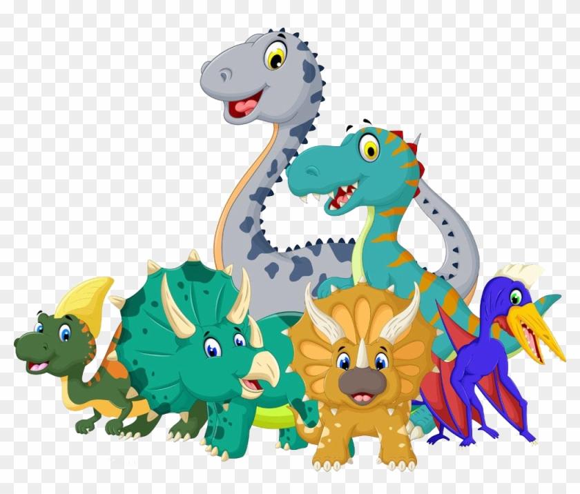 Cartoon Jurassic Dinosaur Royalty Free Imagens De Dinossauro