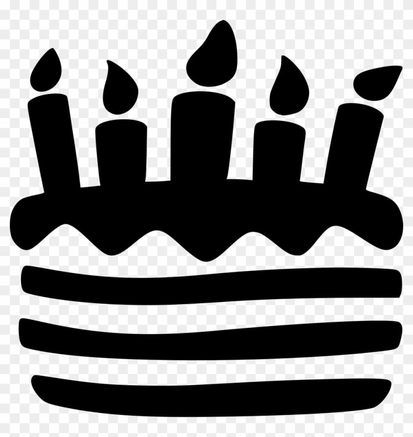 Cake Birthday Pie Wedding Sweet Baking Food Candles Birthday Cake