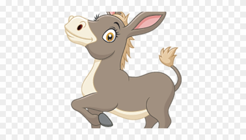 Little Donkey Cartoon Vector - Burro Animados Fondo Blanco #469366