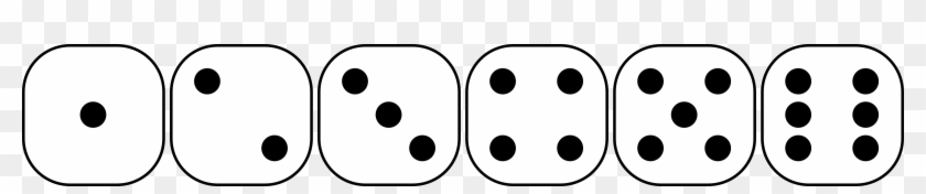 Dice Clipart Six Sided - Individual Dice Sides 1 #469814