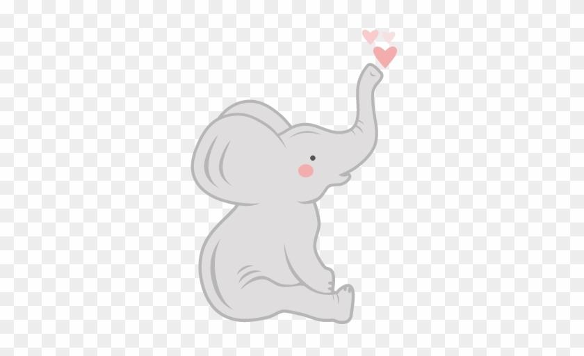 Baby Elephant Svg Scrapbook Cut - Baby Elephant Clipart