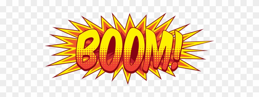 Comic Book Explosion Bubble Png - Comic Book Sound Effects Boom #470499