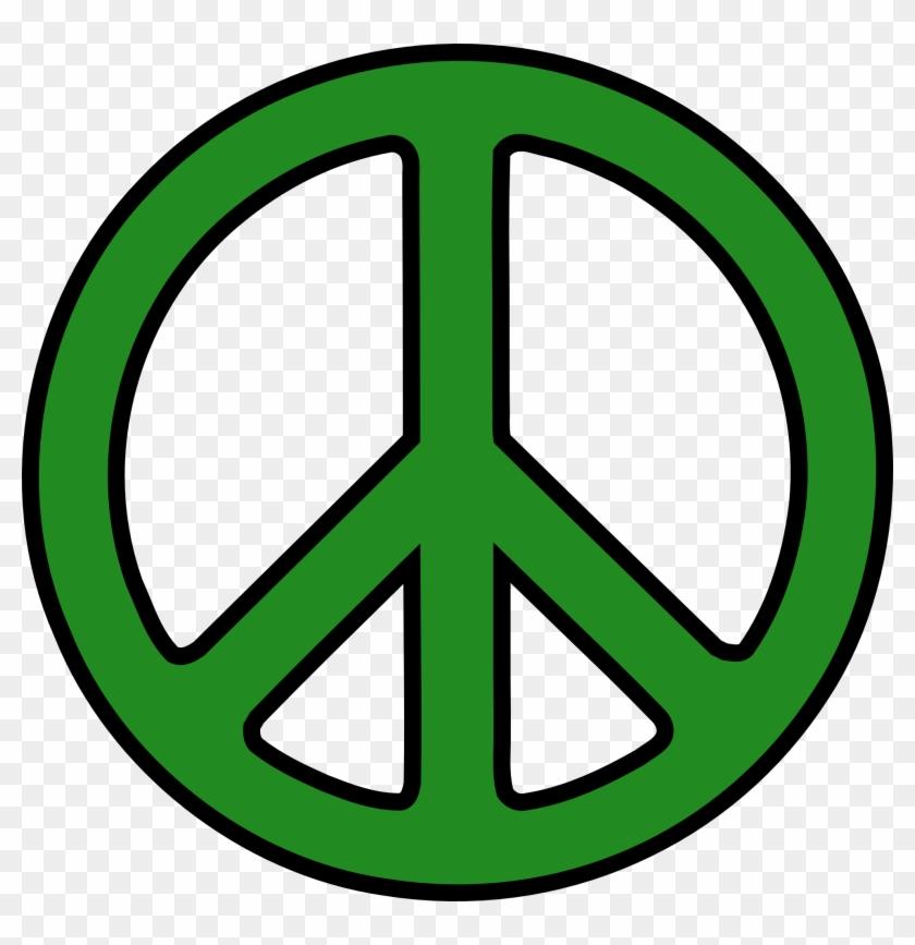 Peace Sign Clipart Green Peace Simbolo Da Paz Desenho Free