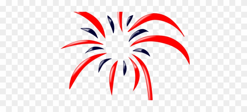 Best Red White And Blue Fireworks Clipart Fireworks - Transparent Background Fireworks Clipart #471620
