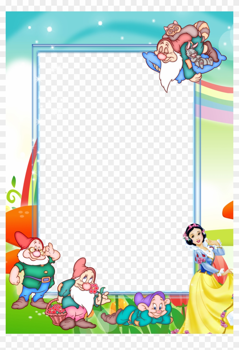 Transparent Kids Png Photo Frame With Snow - Snow White Frames ...
