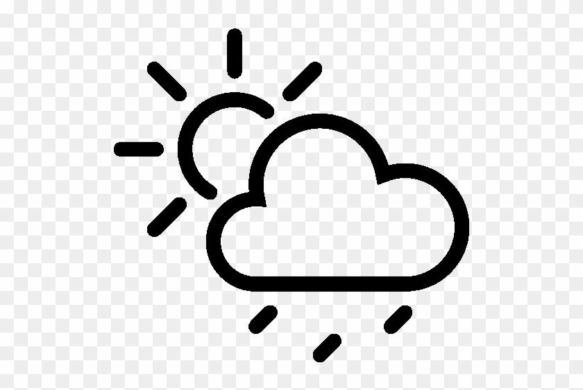 Weather Partly Cloudy Rain Icon - Weather Icon #472321