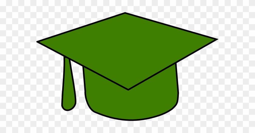 Green Grad Cap Clip Art At Clker - Pink Graduation Hat 2018 #473229