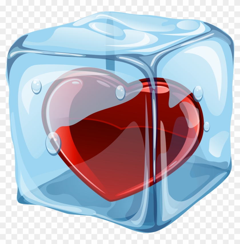 Heart In Ice Cube Png Clipart - Heart In Ice Cube #473602