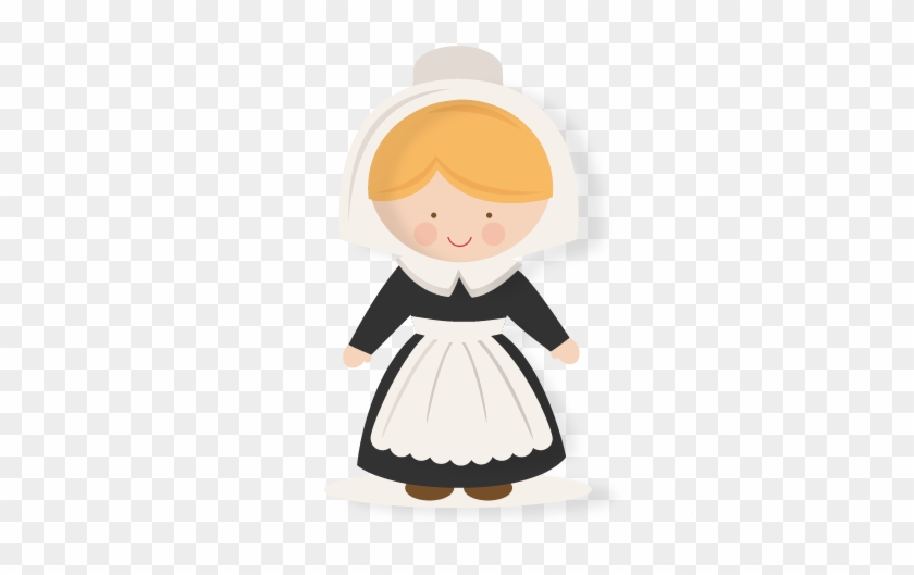 Thanksgiving Girl Pilgrim Svg Scrapbook Cut File Cute - Doll #473667