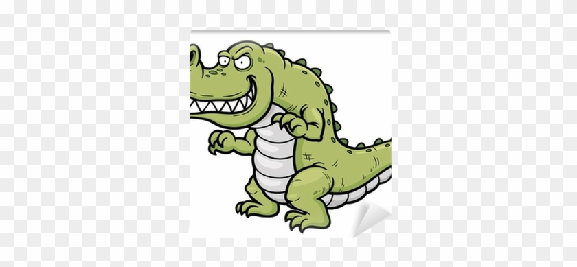 Vector Illustration Of Cartoon Crocodile Wall Mural - Illustration #473705