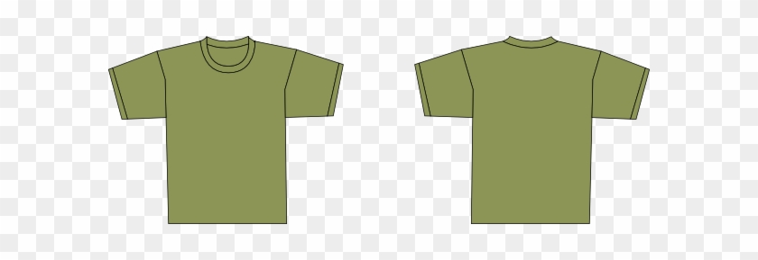 Olive Green T Shirt Template #473924