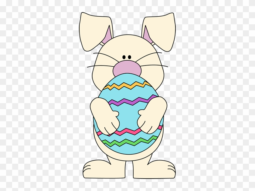 Easter Bunny Holding A Big Easter Egg - Bunny Holding Easter Egg #475019