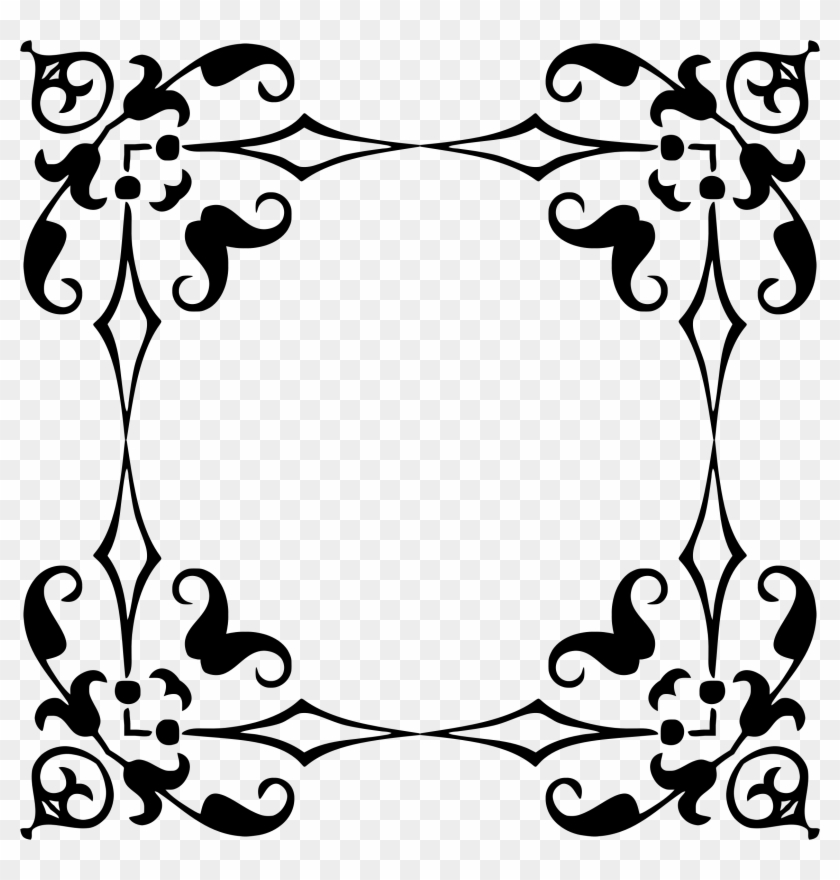 Floral Decorative Frame Border - Decorative Vintage Frame Vector Png ...