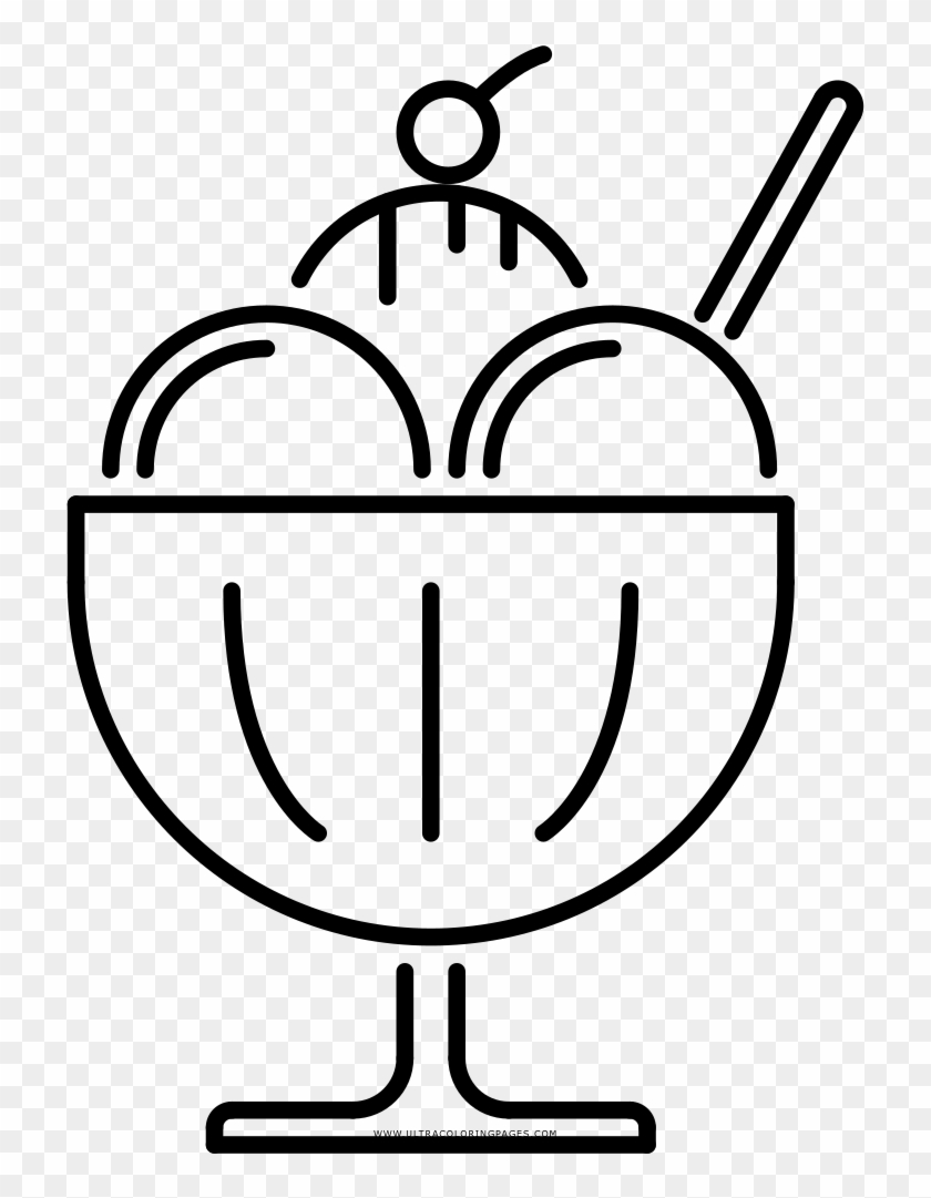 - Ice Cream Sundae Coloring Page - Sundae - Free Transparent PNG Clipart  Images Download