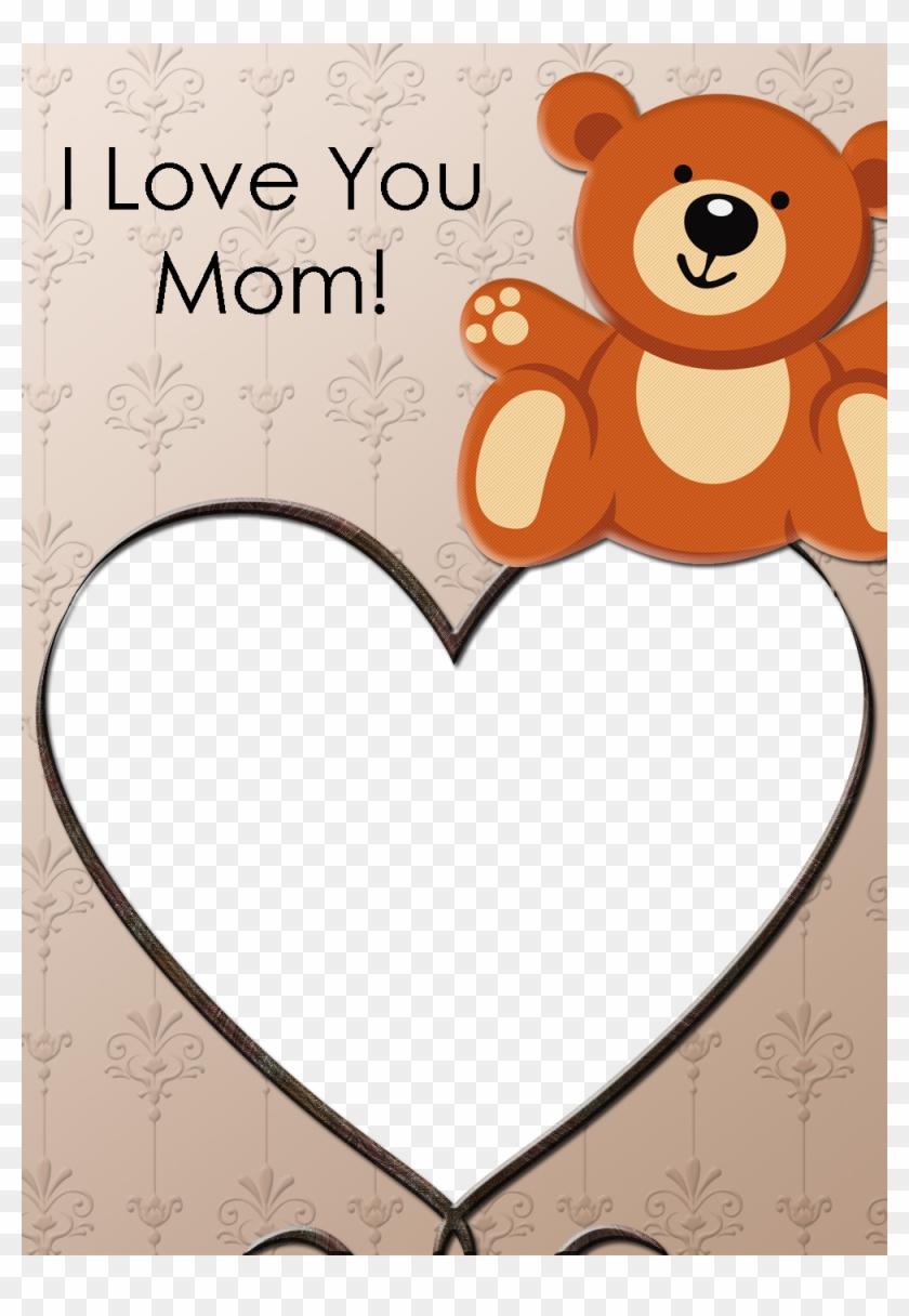 Teddy Bear Photo Card - Thank You Card For Mom #475128
