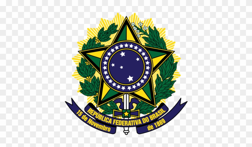 Brazil Coat Of Arms Republica Federativa Do Brasil - Brazil Coat Of Arms #475192
