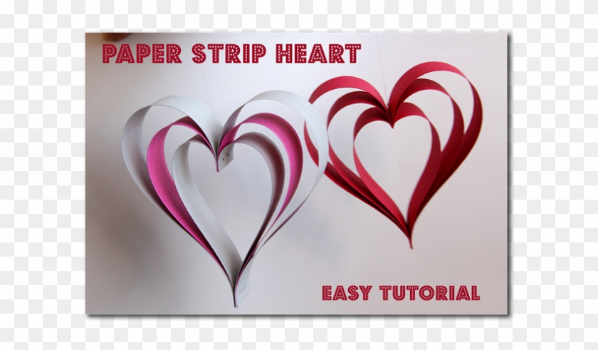 Paper Strip Hearts ~ Sugar Bee Crafts - Love Heart Christmas Decorations Paper #475220