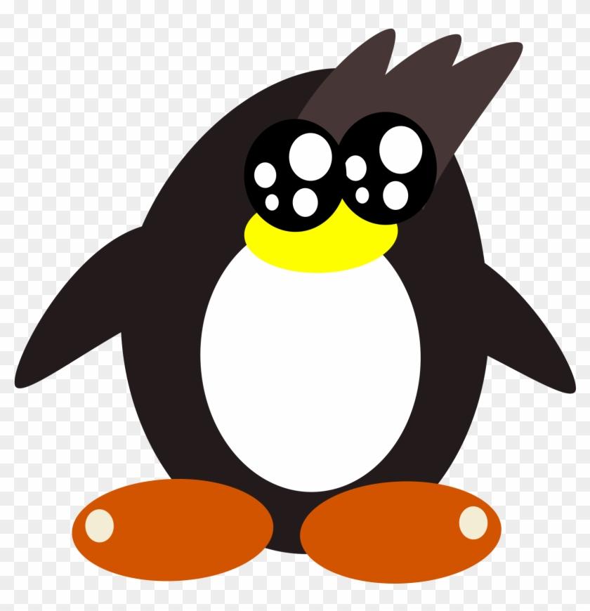 Penguin Remasterd Bclipart - Custom Cartoon Penguin Shower Curtain #475309
