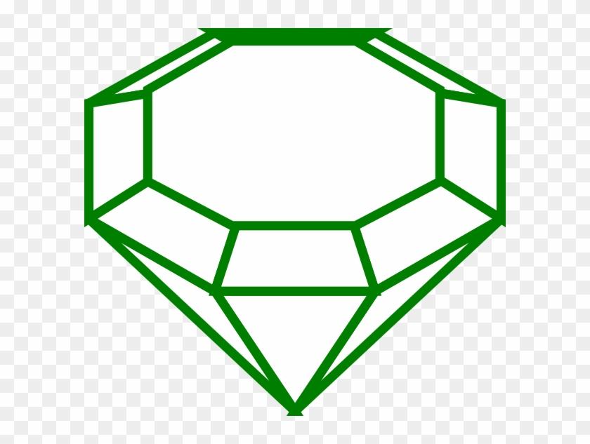 Emerald Clipart Black And White - Diamond Line Art #475314