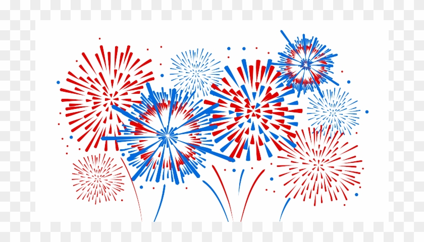 4th Of July Firework Clipart For Kids - 4th Of July Fireworks Transparent #475317