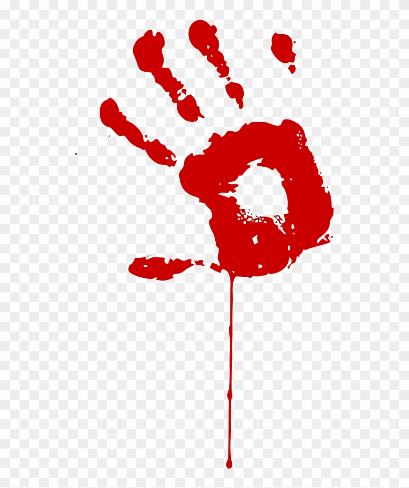 Handprint Clipart Bloody Bloody Hand Vector Free Free Transparent Png Clipart Images Download
