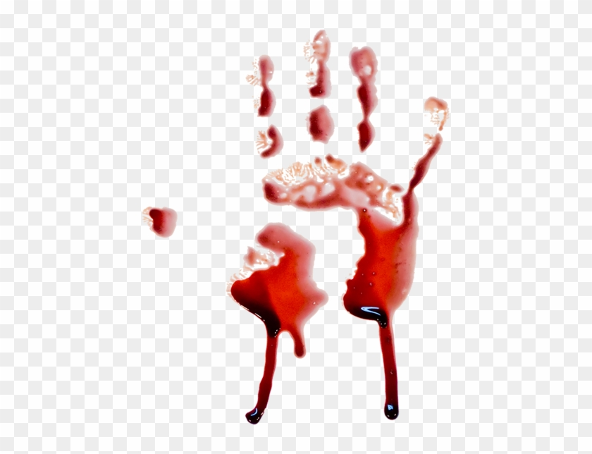 hand print blood dripping vector bloody handprint smear