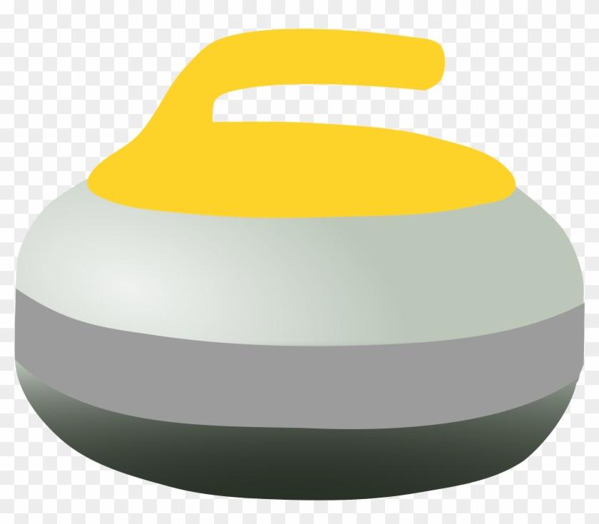 Curling Rock - Yellow Curling Rock Clipart #475880