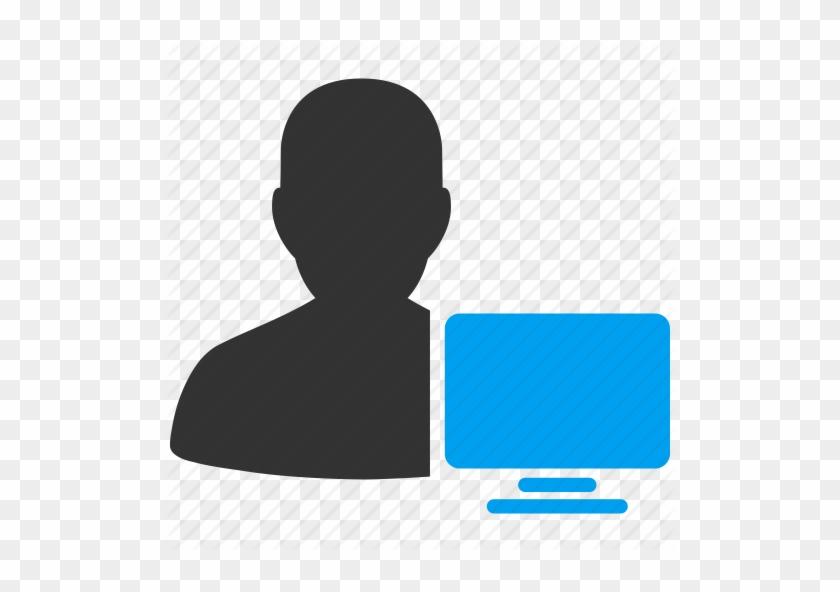 Computer User Ico Download Image - User Desktop Icon #476263
