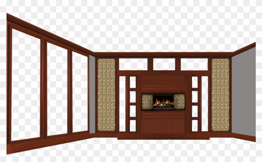 Empty Room With Fireplace By Michellegotham On Deviantart - Living Room Clipart Transparent #476382
