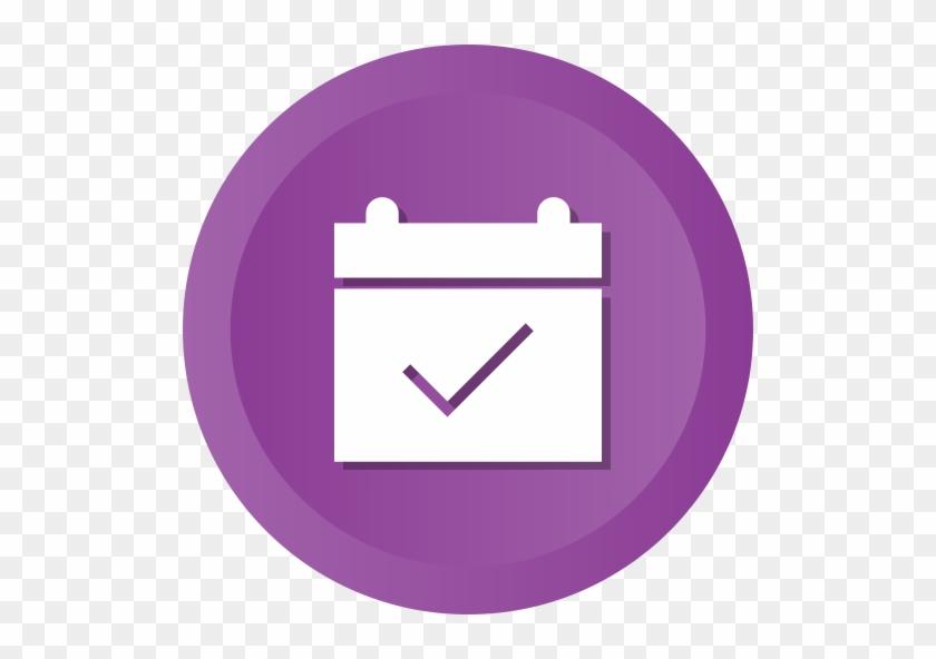Computer Icons Calendar Date User Interface - Calendar Icon Purple #476481