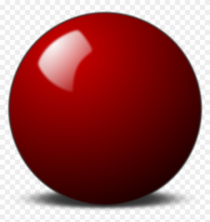 Red Snooker Ball - Red Snooker Ball Png #476932
