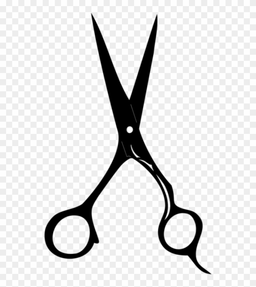 Hair Cutting In Progress - Hair Scissors Clip Art Png - Free