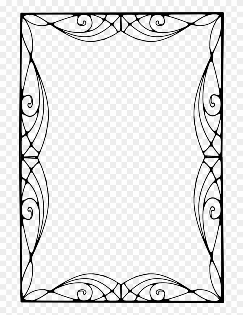 522 Nouveau Frame 09 By Tigers-stock - Art Nouveau Vector Frame Png #477262