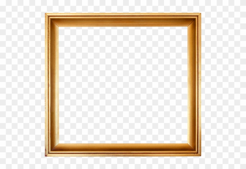 Wooden Frame Cutout - Gold Square Picture Frames #477279