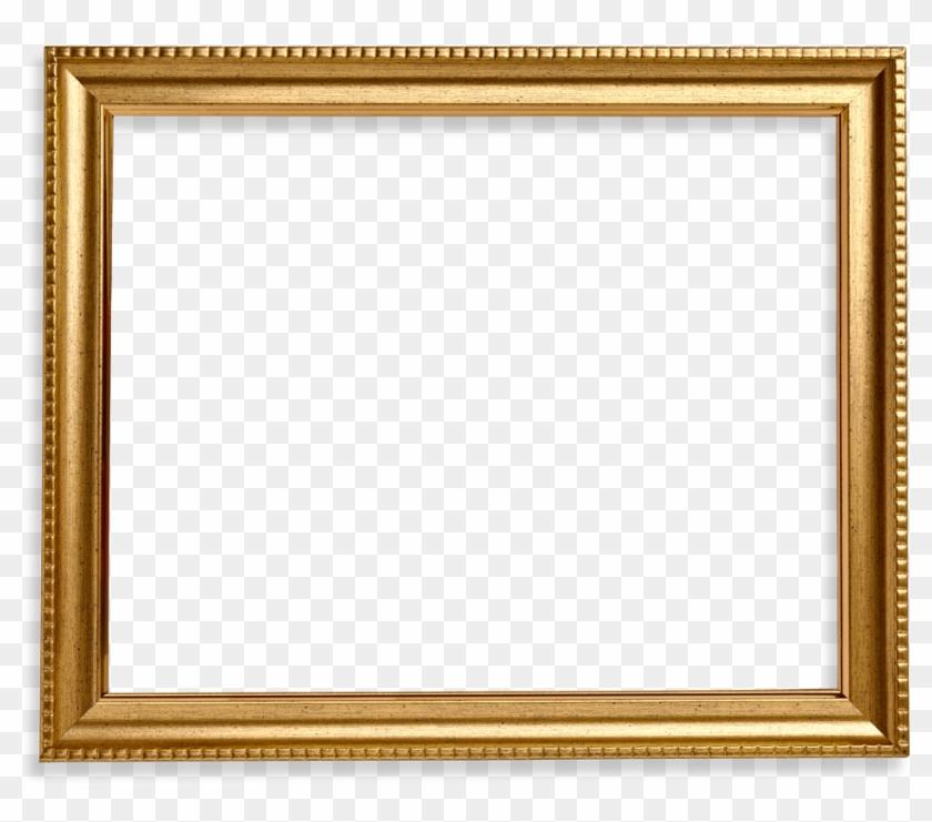 Square Frame Png Wood Gold - Square Gold Frame Png #477310