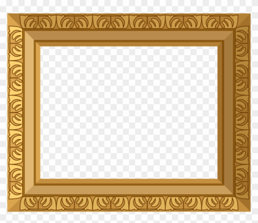 Ornate Gold Frame Border Gold Frame Free Transparent Png Clipart